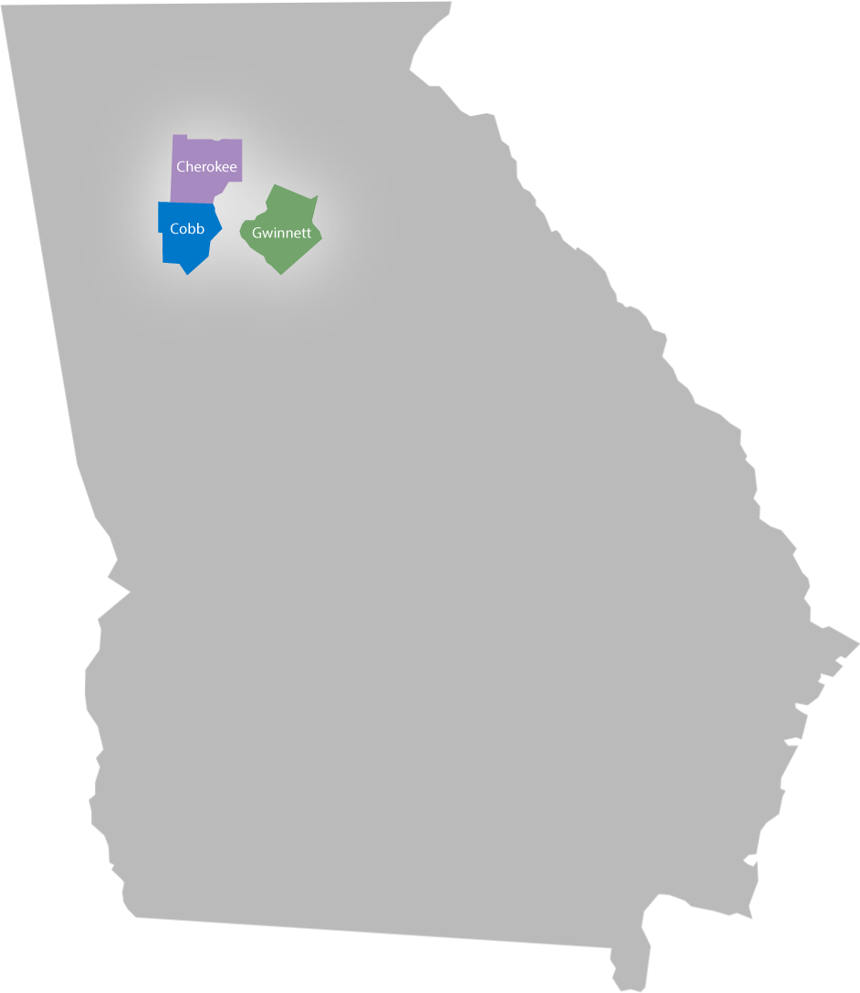 georgia service areas - cobb county, gwinnett county, cherokee county